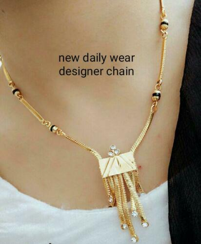 Boho Women Chain Pendant Choker Necklace Black Golden Jewelry Gift