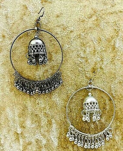 Kashmir Oxidized Jhumki Mughal Jhumka German silver Plated Bollywood Earrings