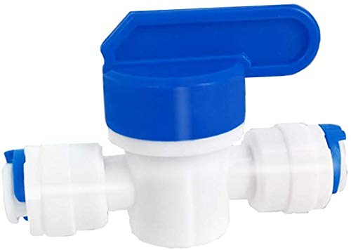 Inline Ball Valve Quick Connect Shut Off for RO