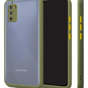 Silicone Smoke Back Cover Case for Samsung Galaxy M02s - Green